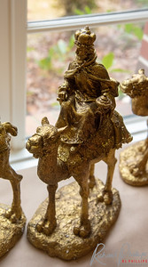 One of three glorious renditions of the Three Kings in all their splendor in Gold.