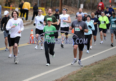 3/19/2011 Mike Orazzi | Staff The start of the 5 mile run at the 9th Annual Shamrock Run & Walk held at the Chippens Hill Middle School on Saturday morning.