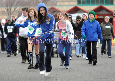 3/19/2011 Mike Orazzi | Staff The start of the 2 mile run/2 mile fitness walk at the 9th Annual Shamrock Run & Walk held at the Chippens Hill Middle School on Saturday morning.