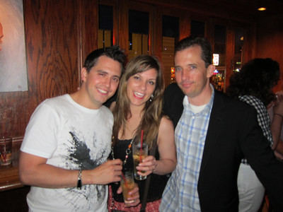 Jeremy, Marcy and Chris looking blurry