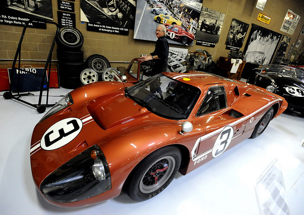 "Bill Murray gets out of a Ford GT40 racing coupe at the Shelby American Collection in Boulder.<br /> For more photos and a video, go to  <a href=""http://www.dailycamera.com"">http://www.dailycamera.com</a>.<br /> Cliff Grassmick / June 12, 2010"