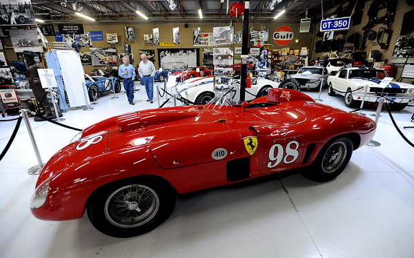 """This Ferrari was raced by Carroll Shelby and is on display at the Shelby American Collection in Boulder.<br /> For more photos and a video, go to  <a href=""""http://www.dailycamera.com"""">http://www.dailycamera.com</a>.<br /> Cliff Grassmick / June 12, 2010"""
