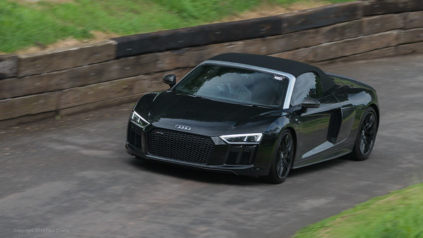 Audi R8 V10 Spyder Colour - Shelsley Walsh Hill Climb - supercarfest 20th July 2019