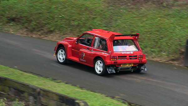 Austin Rover MG Metro 6R4 up the hill - Shelsley Walsh Hill Climb - supercarfest 20th July 2019