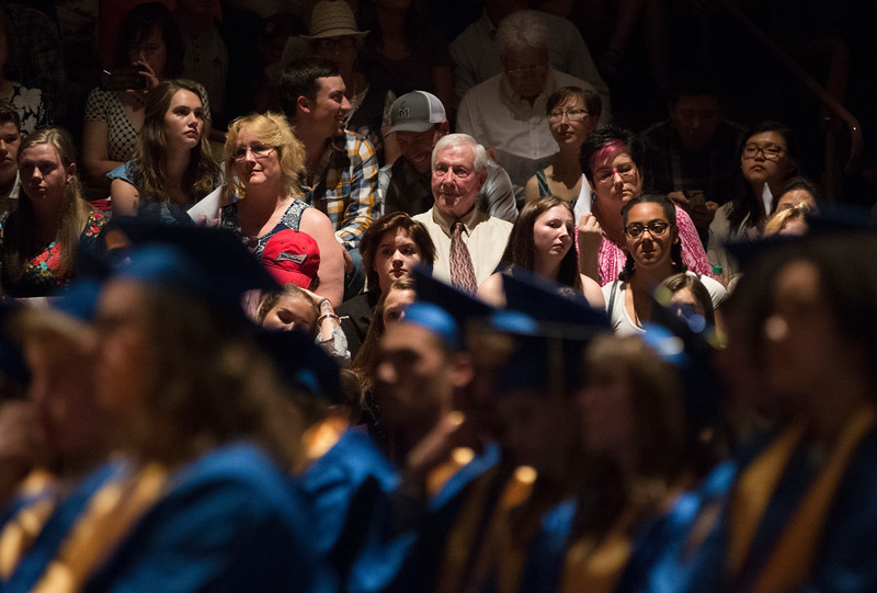 Justin Sheely | The Sheridan Press<br /> Family and friends look on during the class of 2018 commencement ceremony at Sheridan High School Sunday, May 27, 2018.