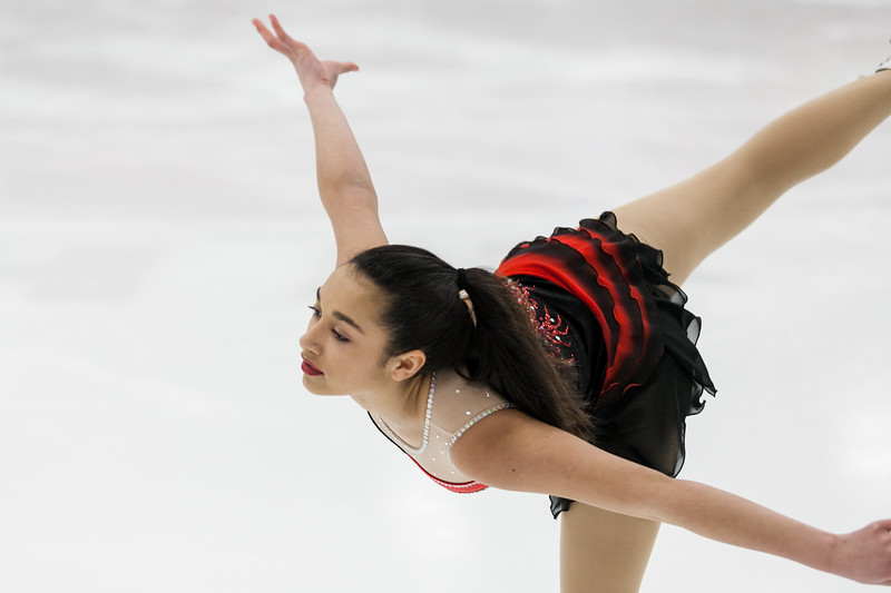 """Tibby McDowell   The Sheridan Press<br /> Madelynn Mendenhall glides across the ice to """"Pirates"""" during the Sheridan Ice's 9th Annual Ice Show at Whitney Rink at  M&M's Center Tuesday, March 27, 2018."""