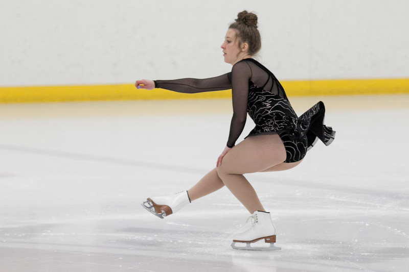 """Tibby McDowell   The Sheridan Press<br /> Kairstyn Holden performs a spin while performing to """"What a Wonderful World"""" during the Sheridan Ice's 9th Annual Ice Show at Whitney Rink at  M&M's Center Tuesday, March 27, 2018."""
