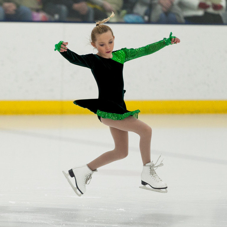"Tibby McDowell | The Sheridan Press<br /> Marra Donahue skates to ""Jig"" during the Sheridan Ice's 9th Annual Ice Show at Whitney Rink at  M&M's Center Tuesday, March 27, 2018."