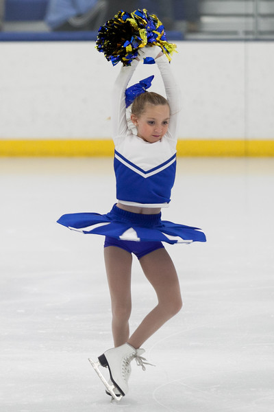 """Tibby McDowell   The Sheridan Press<br /> Marra Donahue does a spin while performing to """"Hey Mickey"""" during the Sheridan Ice's 9th Annual Ice Show at Whitney Rink at  M&M's Center Tuesday, March 27, 2018."""