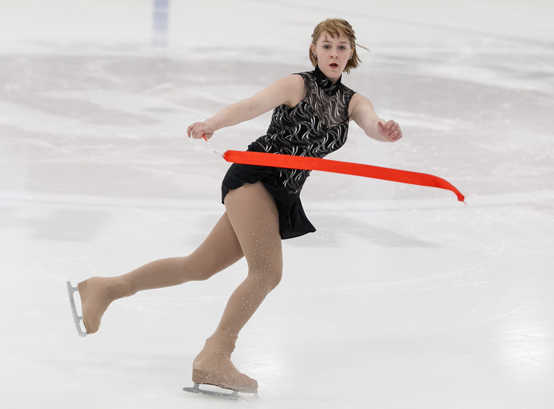 """Tibby McDowell   The Sheridan Press<br /> Anastasia Beutler performs to """"Game of Thrones"""" during the Sheridan Ice's 9th Annual Ice Show at Whitney Rink at  M&M's Center Tuesday, March 27, 2018."""