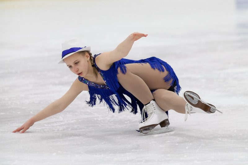 """Tibby McDowell   The Sheridan Press<br /> Deanna Sadrieva perfoms a spin in her """"Swing"""" performance during the Sheridan Ice's 9th Annual Ice Show at Whitney Rink at  M&M's Center Tuesday, March 27, 2018."""