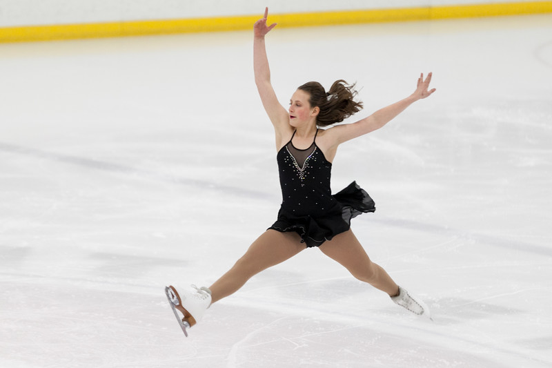 "Tibby McDowell | The Sheridan Press<br /> Maggie Pierce performs to ""La La Land"" during the Sheridan Ice's 9th Annual Ice Show at Whitney Rink at  M&M's Center Tuesday, March 27, 2018."