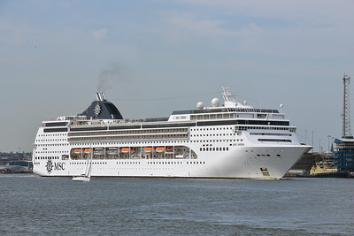 MSC OPERA taken from Hythe Pier on 16 July 2013