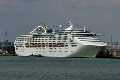 DAWN PRINCESS taken from Hythe Pier on 12 July 2014