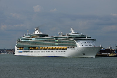 INDEPENDENCE of the SEAS taken from Hythe Pier on 12 July 2014