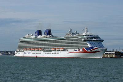 BRITANNIA taken from Hythe Pier on 6 July 2015