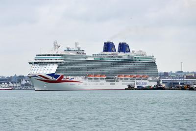 BRITANNIA taken from Hythe Pier on 25 April 2015
