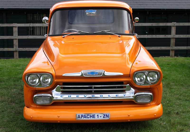 Chevrolet Apache pick up truck at Shire Horse Car Rally 2010