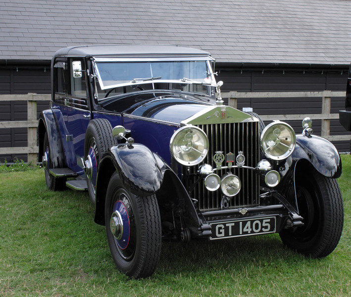 Vintage Rolls Royce at Shire Horse Car Rally 2010
