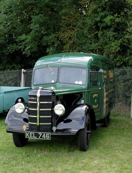 Vintage Bedford Van at Shire Horse Car Rally 2010