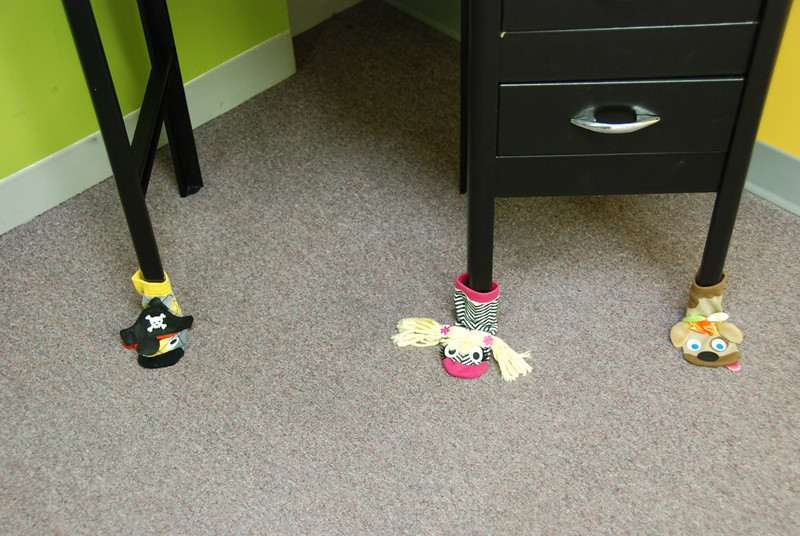Even the table legs were decorated!
