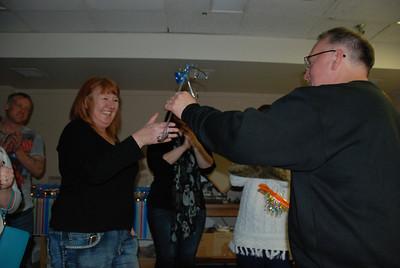Sarah wins the runner-up award.