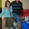Charlotte and Dwight show off one of the many costume changes they had for their boots.