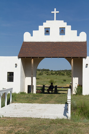Entrance to shooting range grounds, Founders Ranch, Edgewood, NM.