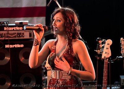Alyssa Startup at ThunderBash 2013, singing the National Anthem