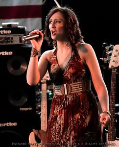 Alyssa Startup at ThunderBash 2013, singing the National Anthem