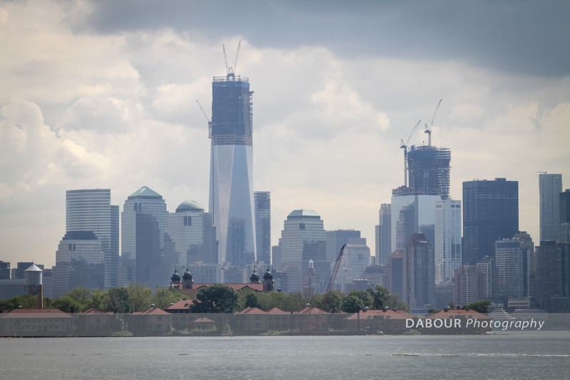 Construction of the Freedom tower is evident in this view from Liberty State Park's west end