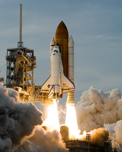 STS-127's sixth launch attempt was successful, on July 15, 2009 at 6:03 p.m. EDT<br /> <br /> STS-127 (ISS assembly flight 2J/A) is the most recent space shuttle mission to the International Space Station (ISS). It is the twenty-third flight of Space Shuttle Endeavour. The primary purpose of the STS-127 mission was to deliver and install the final two components of the Japanese Experiment Module: the Exposed Facility (JEM EF), and the Exposed Section of the Experiment Logistics Module (ELM-ES). When Endeavour docked with ISS, it set a record for the most humans in space at the same time in the same vehicle, the first time thirteen people have been at the station at the same time. It also tied the record of thirteen people in space at any one time.