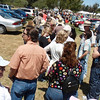 The line waiting to get into the Annual Santa Barbara Wine Festival