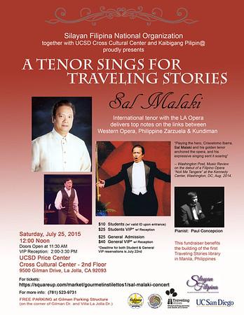 Sal Malaki Concert Flyer