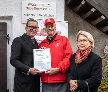 Dr. Leppla with the Mayor and Assistant Mayor of Oberndorf