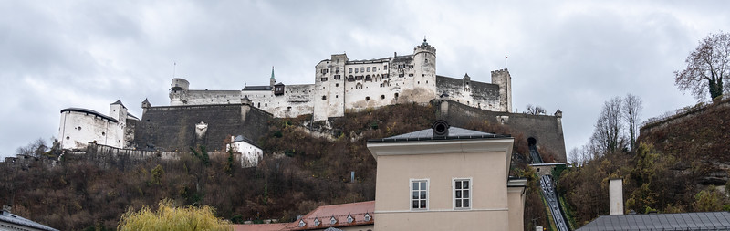 The fortress from street level