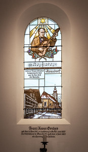 Stained-glass tribute to Franz Gruber