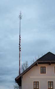 A Christmas Tree on top of the flagpole?