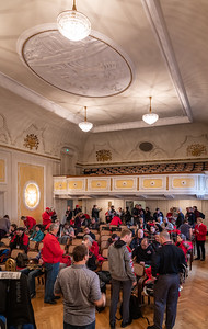The Wiener Saal (Viennese Hall) made a handsome space to store cases