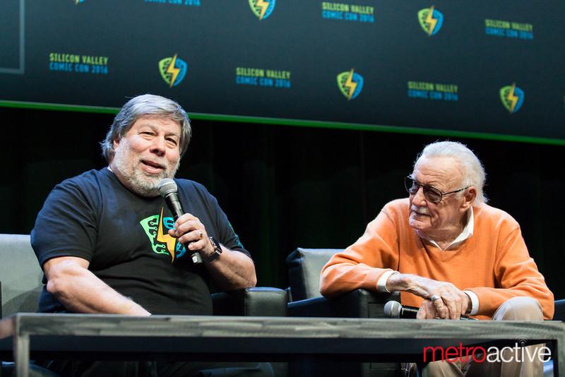Steve Wozniak and Stan Lee