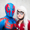 Spider-man 2099 & Black Cat cosplayers