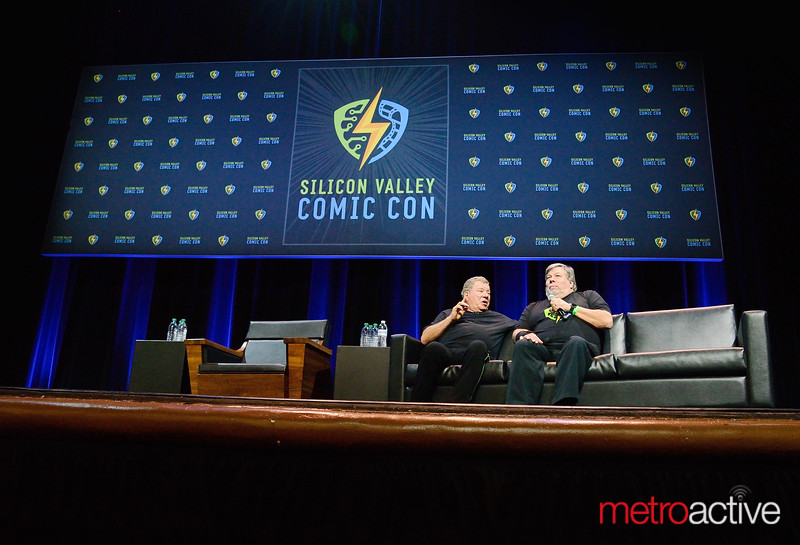 "William Shatner - Star Treks ""Captain Kirk"" (R) with Steve Wozniak"
