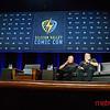 """William Shatner - Star Treks """"Captain Kirk"""" (R) with Steve Wozniak"""