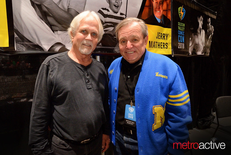 Tony Dow (Wally) and Jerry Mathers (Beaver)