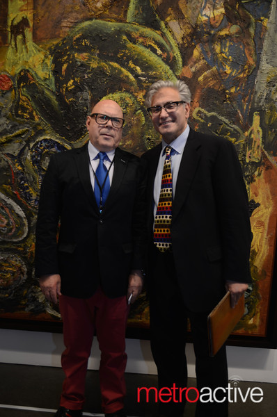 Founder/Executive Director Rick  Friedman with Corderious Gallery Owner, Agostinho Corderio. Photos by Stephanie Guerrero