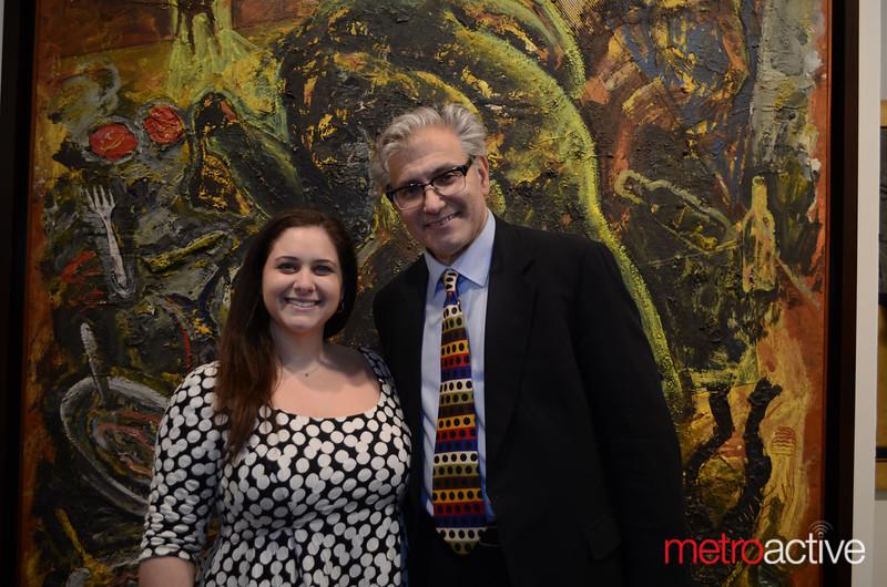 SVC's Annie Levitt with Founder/Executive Director Rick Friedman. Photos by Stephanie Guerrero