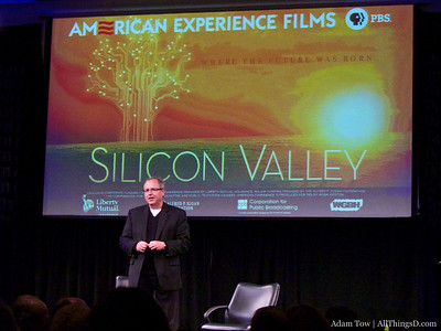 John Hollar, President & CEO of the Computer History Museum welcomes the crowd to the Silicon Valley documentary film preview.