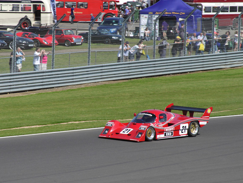 1985 Veskanda driven by Paul Stubber at Group C Endurance Race Cars Silverstone Classic July 22 2012