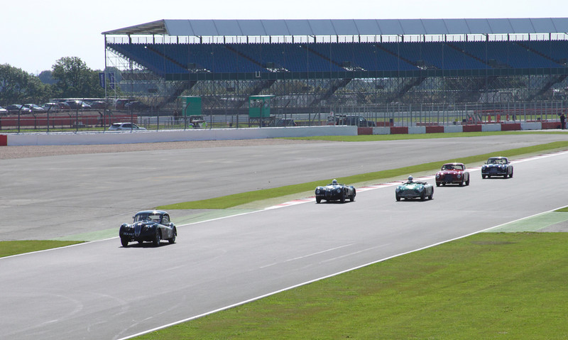 Race at RAC Woodcote Trophy for Pre-56 Sports cars at Silverstone Classic 22 July 2012