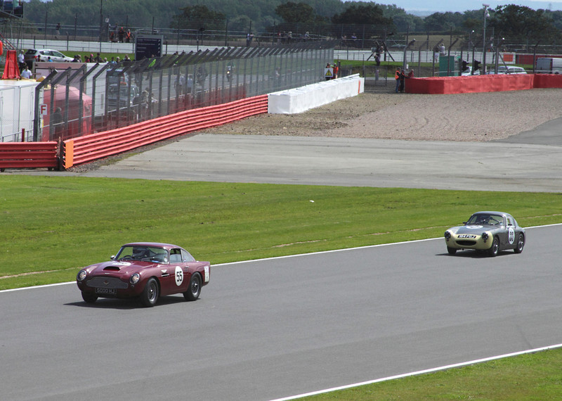 Aston Martin DB4 GT and Austin Healey Sebring Sprite RAC Tourist Trophy for Historic Cars (pre-63 GT) Silverstone Classic 2012